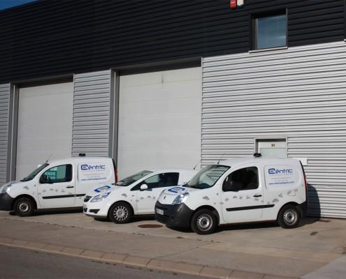 Flota de vehicles de Cèntric Plagues - Control i prevenció de plagues a Girona i Barcelona